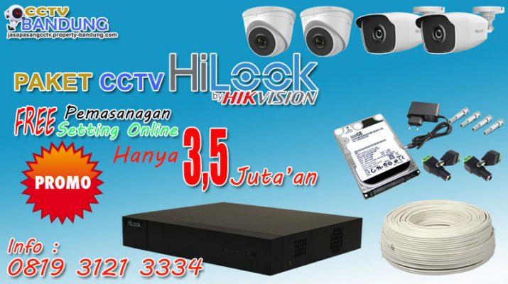 Promo Paket CCTV Hilook 4 Chanel Bandung